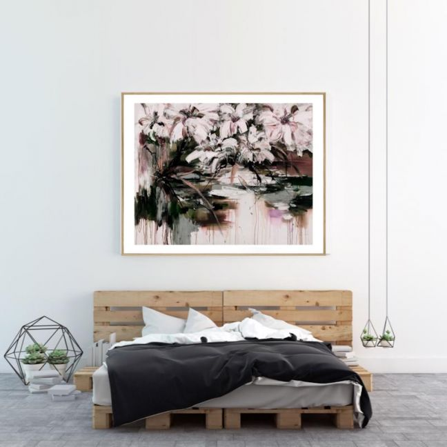 Abstract Flowers | P1004-286-1 | Framed Print | Colour Clash Studio