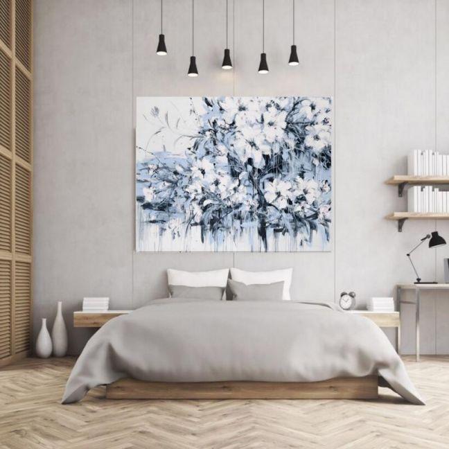 Abstract Flowers   P1006-232   Canvas Print   Colour Clash Studio