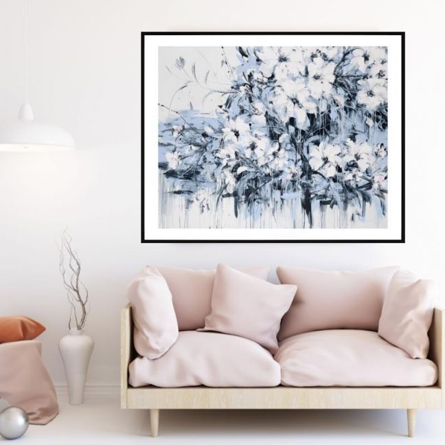Abstract Flowers | P1006-232 | Framed Print | Colour Clash Studio