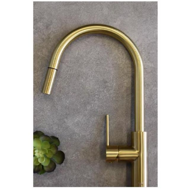 Accent Bath Kitchen Pull Out Mixer PVD | Brushed Bronze