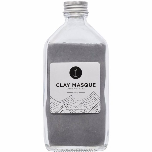 Activated Charcoal Clay Masque | 200ml | With Application Brush & Spoon