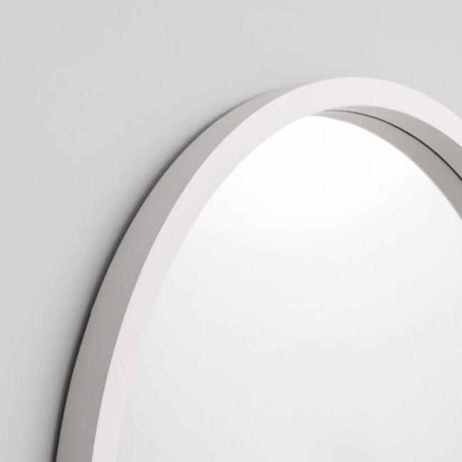 Adel Round Mirror | White