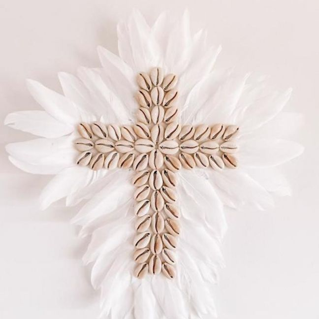Aimee Shell & Feather Juju Wall Cross | By Sun Republic