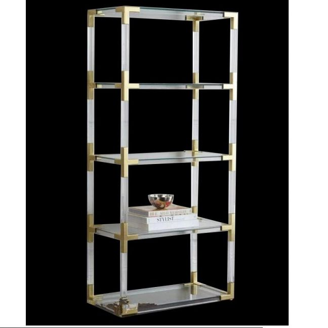 Ainsley Lucite Acrylic Open Bookcase | Customisable