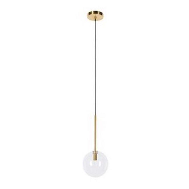 Aksel 1 Light 150mm Pendant in Brass/Clear | Beacon Lighting