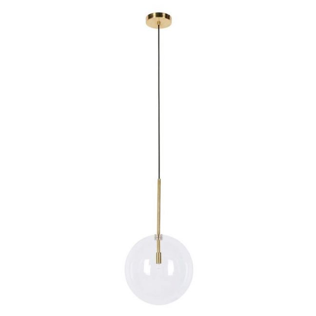 Aksel 1 Light 250mm Pendant in Brass/Clear | By Beacon Lighting