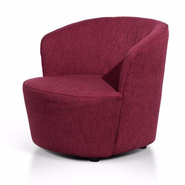 Alfonzo Fabric Armchair | Garnet Red