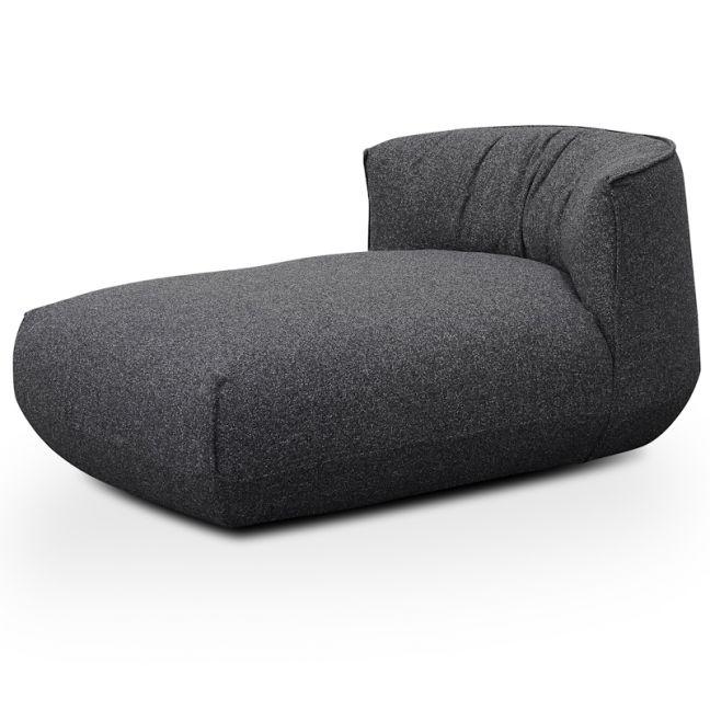 Alita Fabric Armchair With Chaise | Dark Grey
