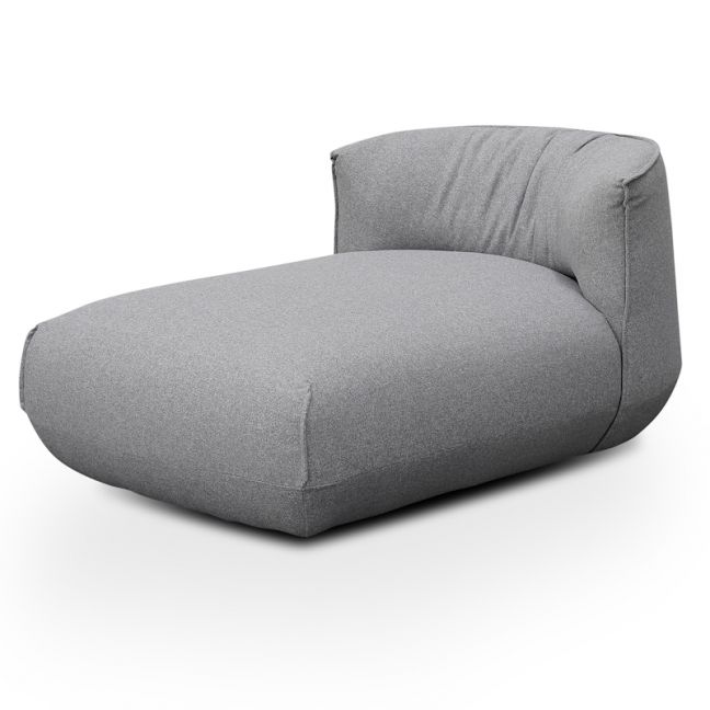Alita Fabric Armchair With Chaise | Light Grey