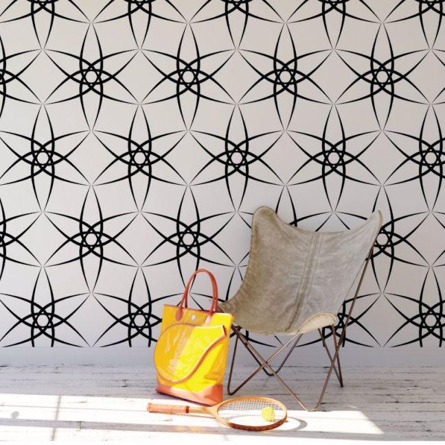 Amba - Contemporary Lines | Eco Wallpaper | Black | Amba Florette