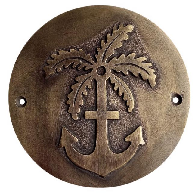 Anchor & Palm Plaque   Pineapple Traders