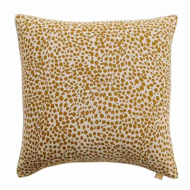 Animal Print Cushion   Mustard