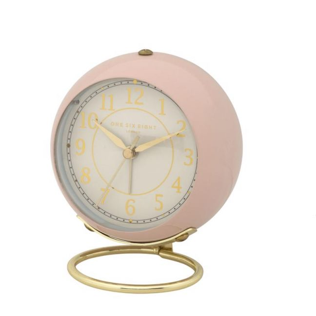 Anna Alarm Clock   13cm   Silent   Blush    One Six Eight London