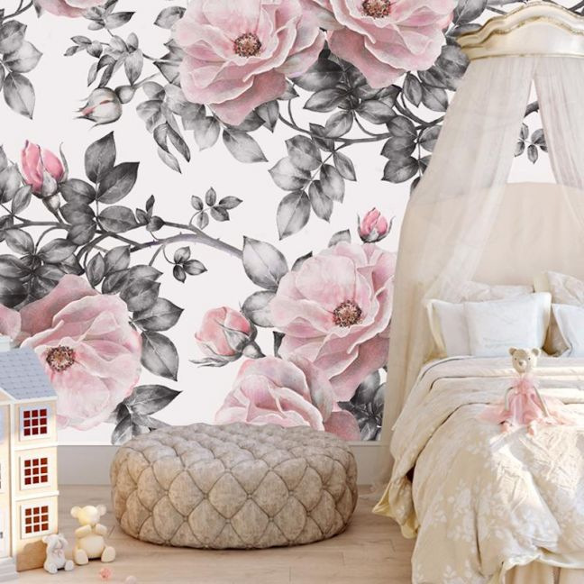 Antique Pink   Full Wall Mural