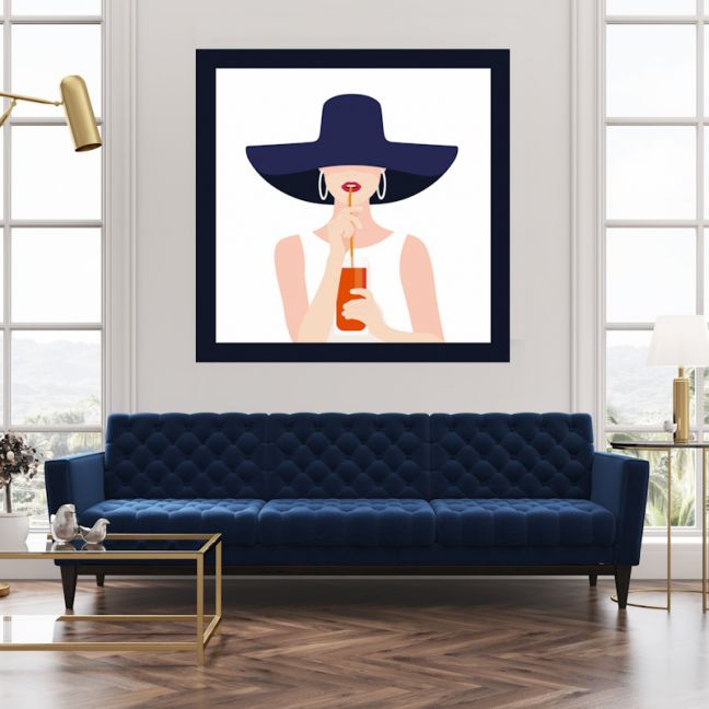 Aperol Girl | Canvas Wall Art by Hoxton Art House
