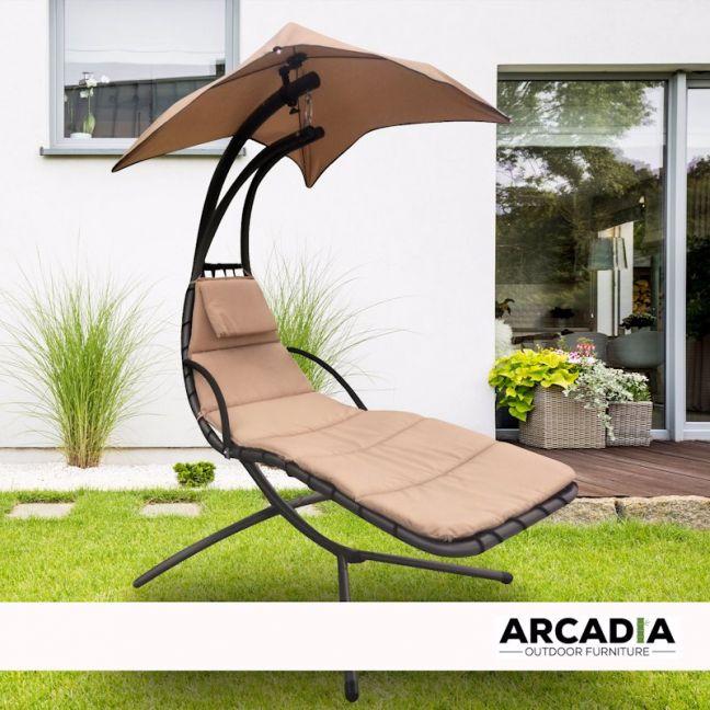 Arcadia Furniture Hammock Swing Chair   Beige
