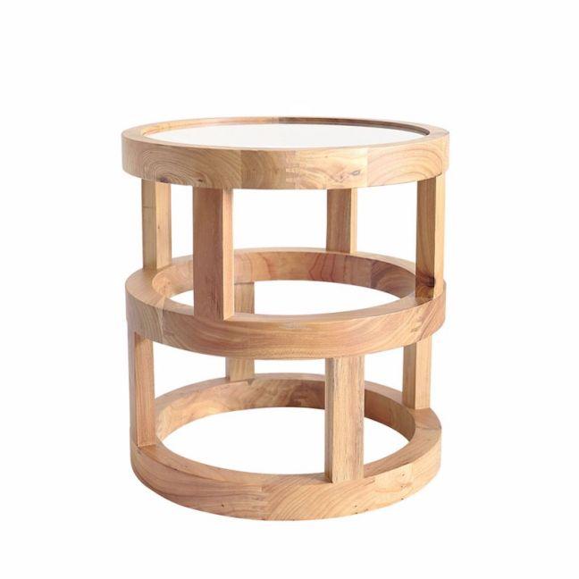 Arlo Side Table Elm Wood | by Black Mango