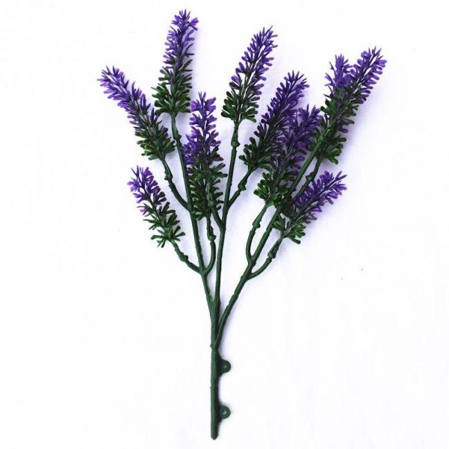 Artificial Small Lavender Wall Plant 26 cm