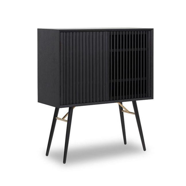 ASLOG Tall Sideboard 90cm - Black