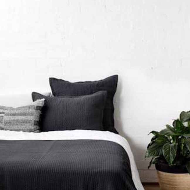 Aspen Charcoal Pillowcase | European