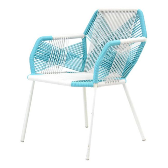 Astro Outdoor Chair | Aqua Blue and White by SATARA