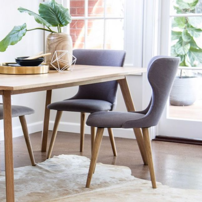 Augusta Dining Chair | Steel Grey Coloured Seat by SATARA