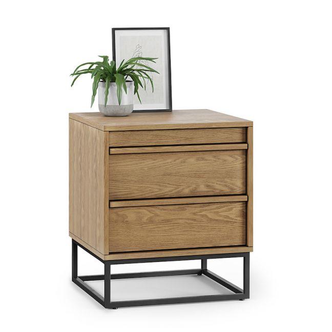 Averi 2 Drawer Bedside Table   Natural Oak