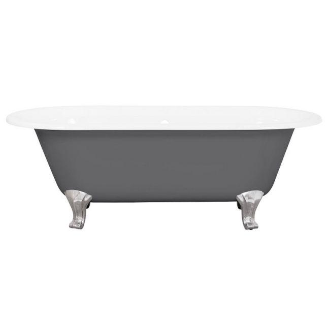 Avon Cast Iron Bath Chrome Feet | Dusty Grey | Schots