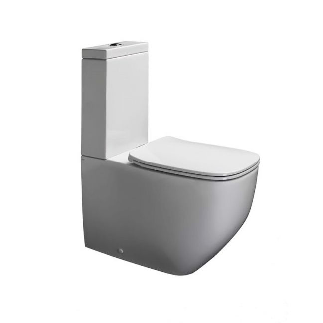 Axa Five Close Coupled Back To Wall Rimless Toilet Suite | Reece