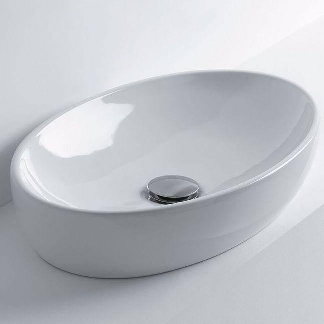 AXA H10 Oval Counter Basin 500 x 320mm White | Reece