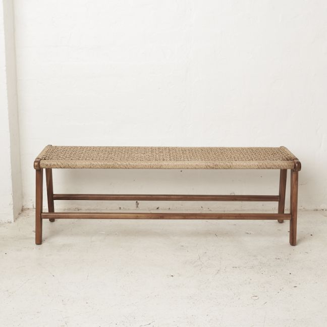 Ayda Woven Outdoor Bench Seat l Custom Made