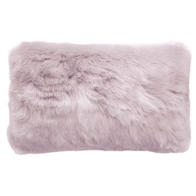 Bambury Faux Fur Cushion | 30 X 50cm | Lilac