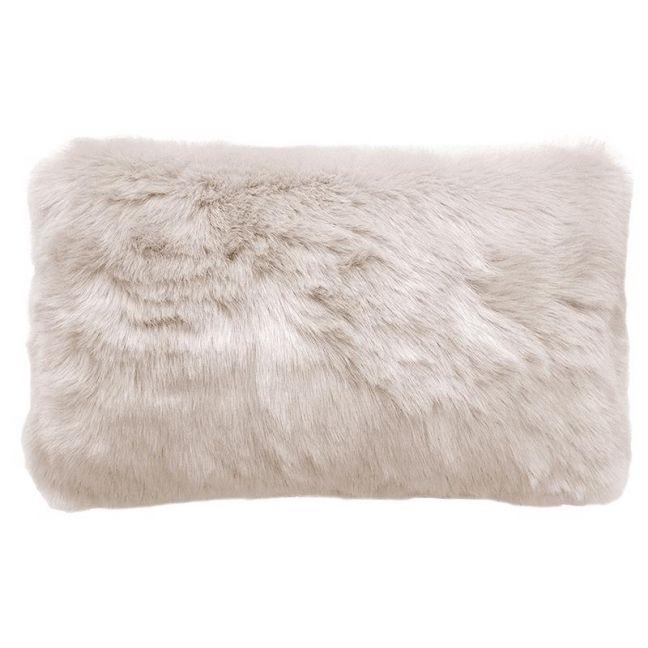 Bambury Faux Fur Cushion | 30 X 50cm | Pebble