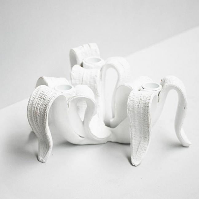 Banana Candle Holder | White