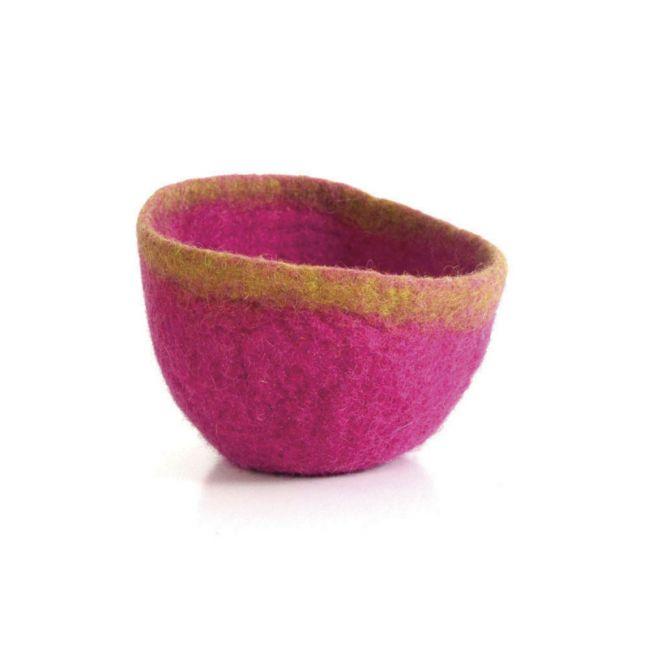 Batuko Rim Bowl Small   Magenta