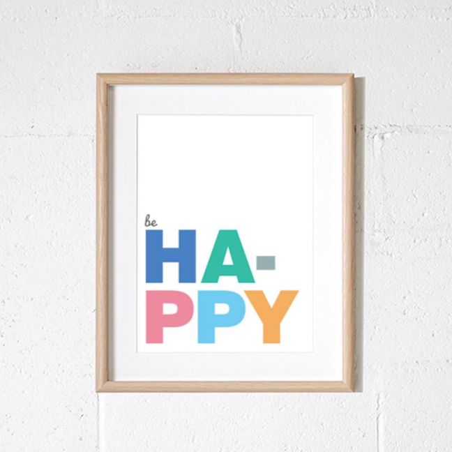 Be Happy | A4 print