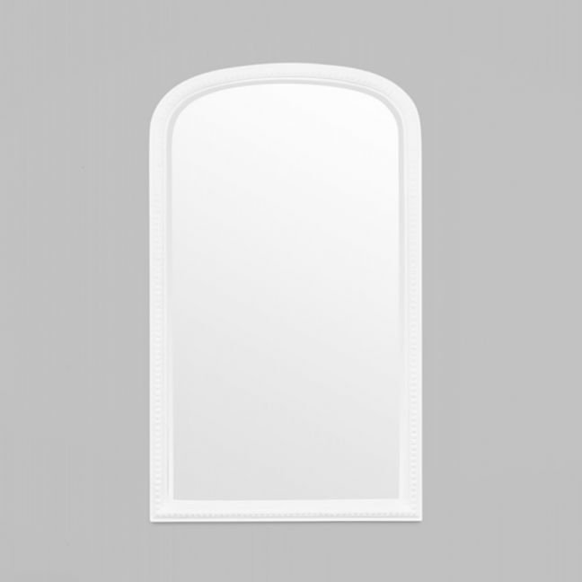 Beaded Arch Antique Mirror | White | Schots