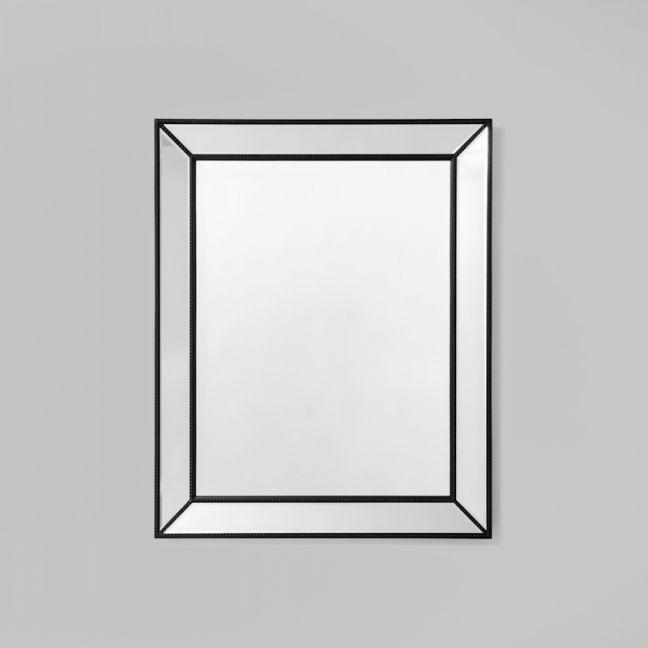 Beaded Black Angle Mirror