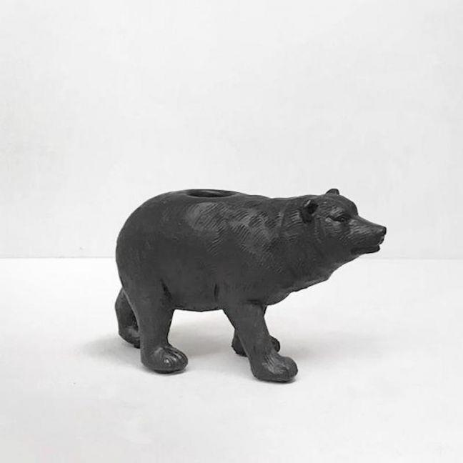 Bear Candle Holder | Black | White Moose