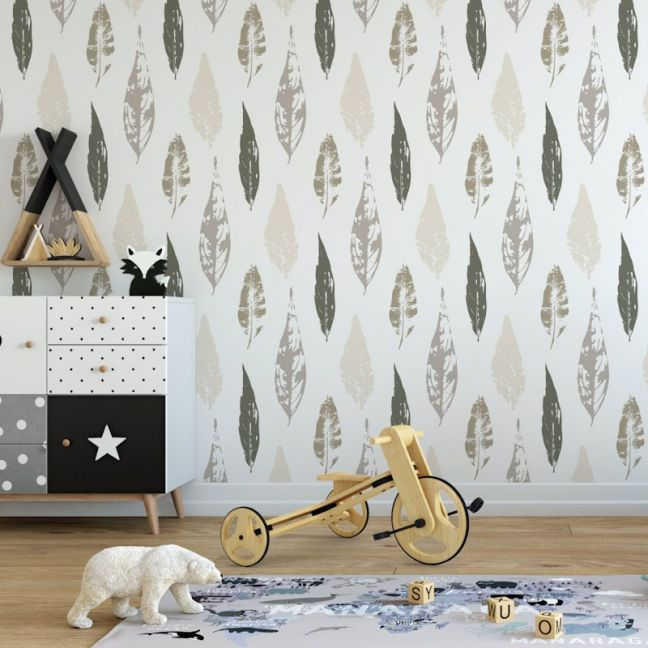 Beleaf In Yourself - Nature's Child | Eco Wallpaper | Neutral| Amba Florette