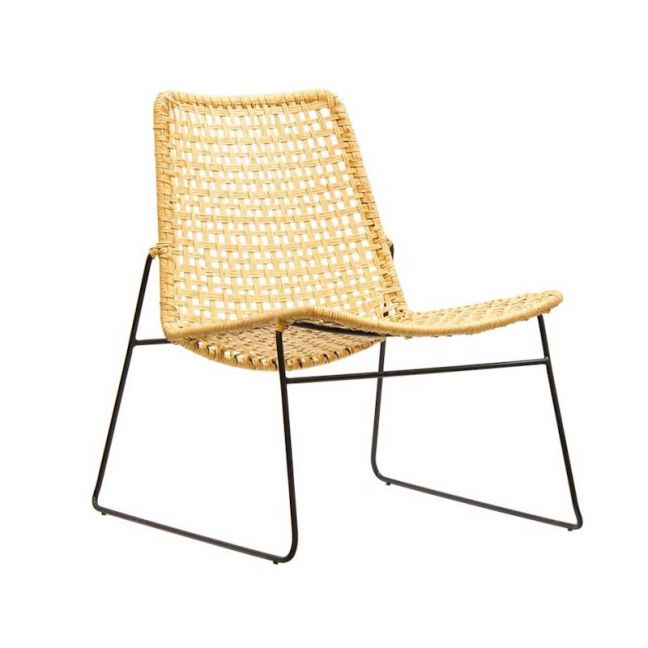 Bella Loom Lounge Chair with White or Black Legs by SATARA
