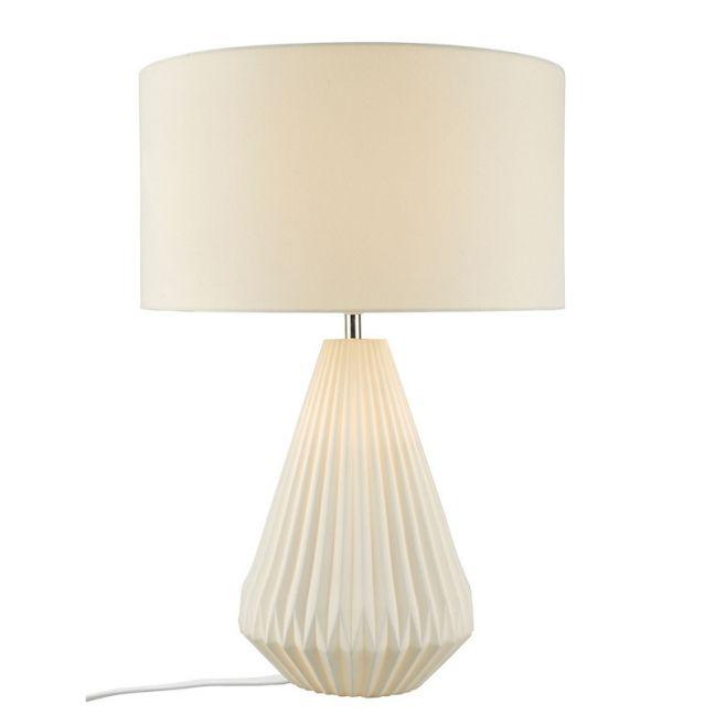 Belle Tall 2 Light Table Lamp in White