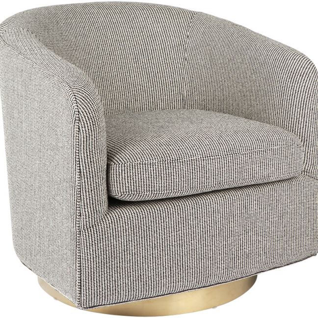 Belvedere Swivel Occasional Chair | Black or Charcoal Velvet