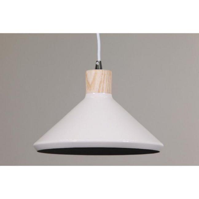 Bengt Pendant Light   Wood Veneer & Milky White Inside