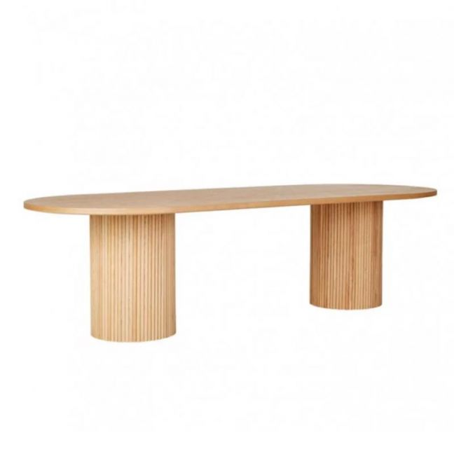 Benjamin Ripple Oval Dining Table | Natural Ash | Pre Order