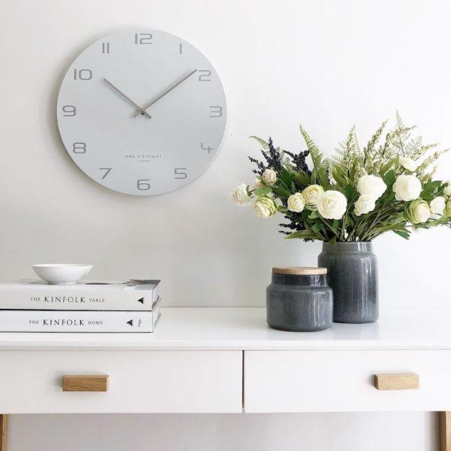 Bianca White 60cm Silent Wall Clock