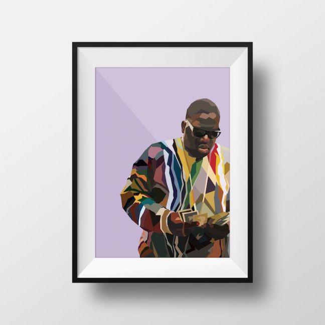 Biggie V2   Art Print   Framed and Unframed
