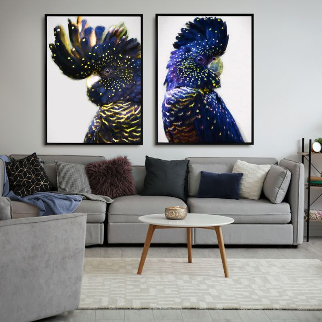 Black and Gold Left   Canvas Print