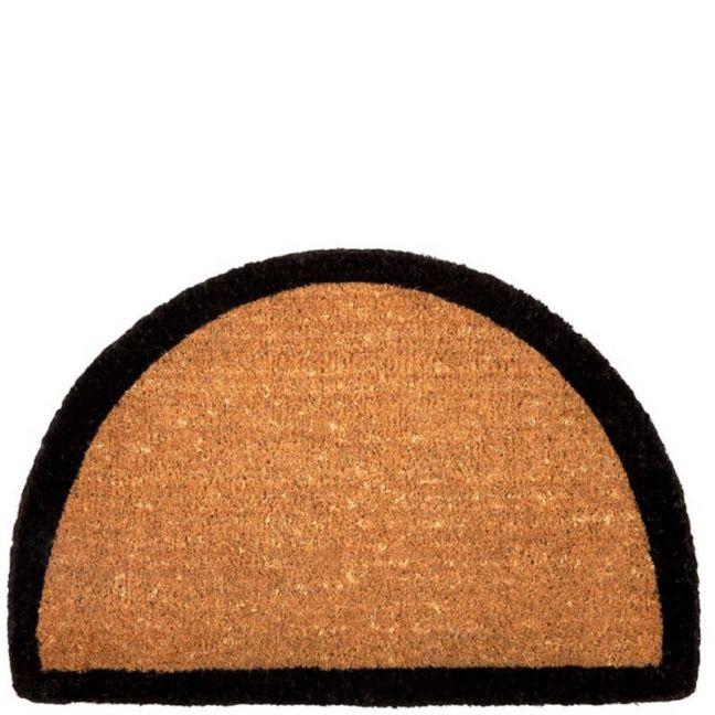 Black Border Half Round Doormat | 100% Coir | 60 x 90cm