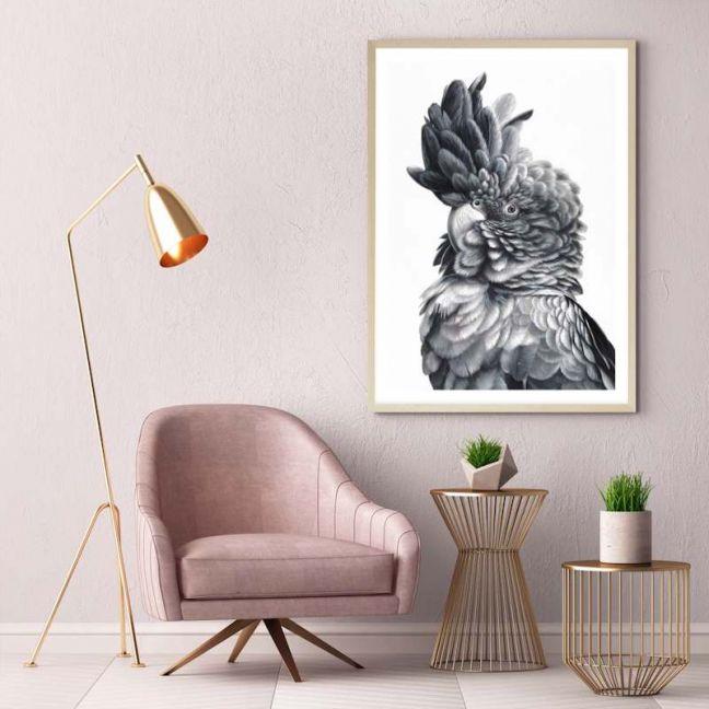 Black Cockatoo Close-Up Premium Art Print (Various Sizes)